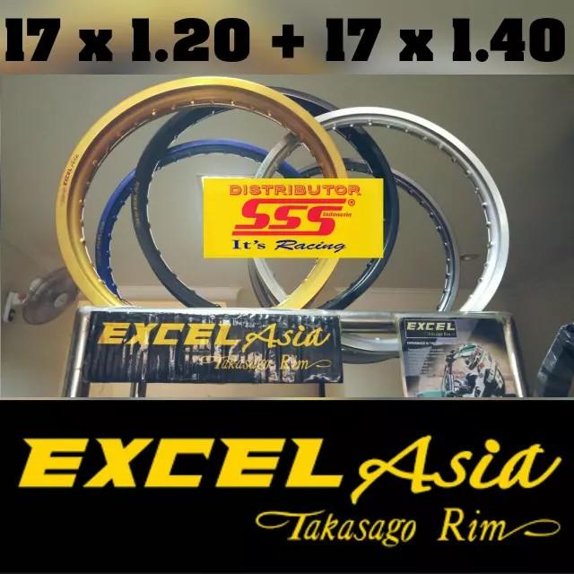 harga Velg takasago excel asia 17 x 1.20 (36h) & 17 x 1.40 (36h) Tokopedia.com