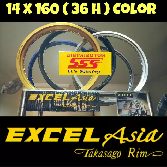 harga Velg takasago excel asia 14 x 1.60 (36h) Tokopedia.com