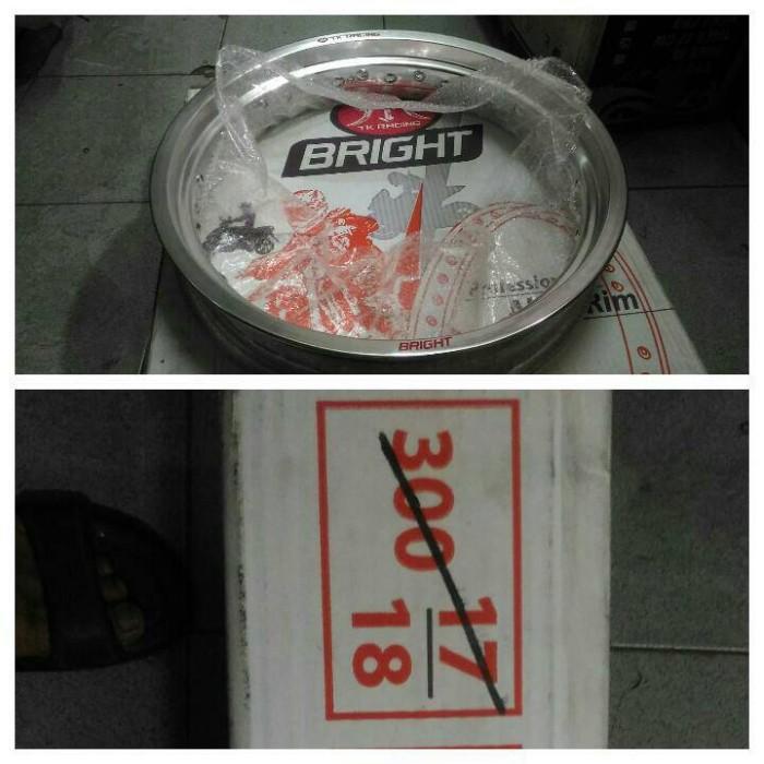 harga Velg tk 300x17 tapak lebar/velg tk japan bright 300x17 1pcs Tokopedia.com