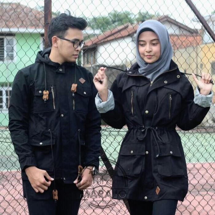 MARAJO COUPLE Kanvas Murah Parka Couple Jaket Couple Suplier Jaket 1 -  Hijau d6a2990bf9