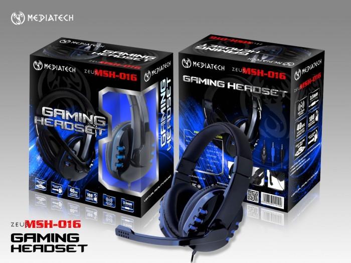 harga Mediatech gaming headset / headphone zeus msh 016 - biru Tokopedia.com