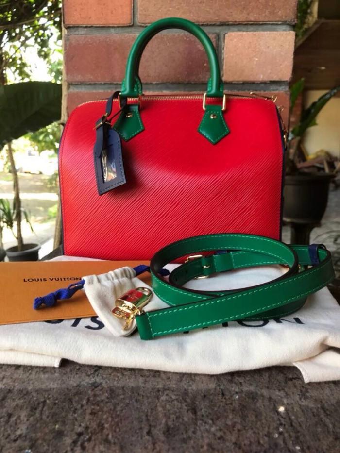 Tas LV Louis Vuitton Speedy Bandouliere 25 Epi Asli   Ori   Authentic cde448956f