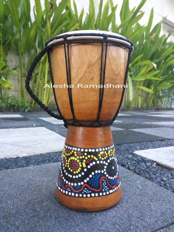 harga Alat musik perkusi / miniatur djembe t 25cm / jimbe / gendang Tokopedia.com