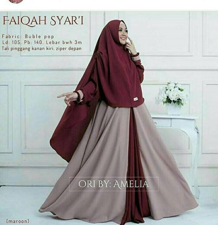 Faiqah syar'i /syari muslim/long dress