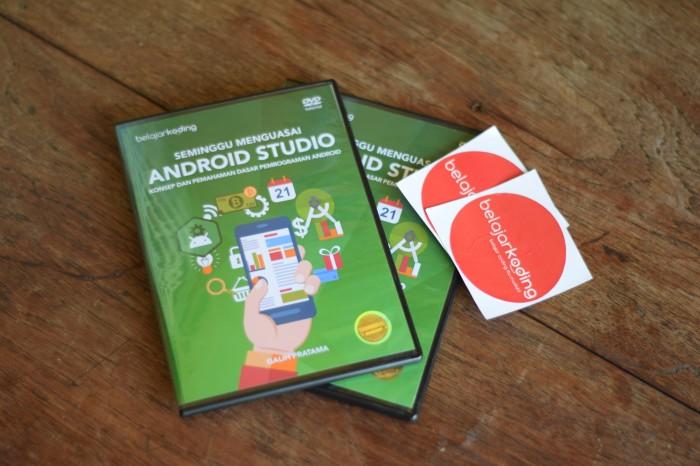 Foto Produk DVD Modul Video Tutorial Android Studio Indonesia Untuk Pemula dari Belajar Koding