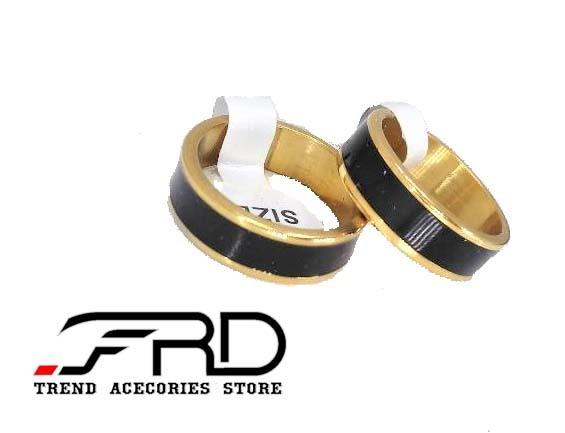 harga Cincin couple titanium pria wanita hitam emas (ring black gold import) Tokopedia.com