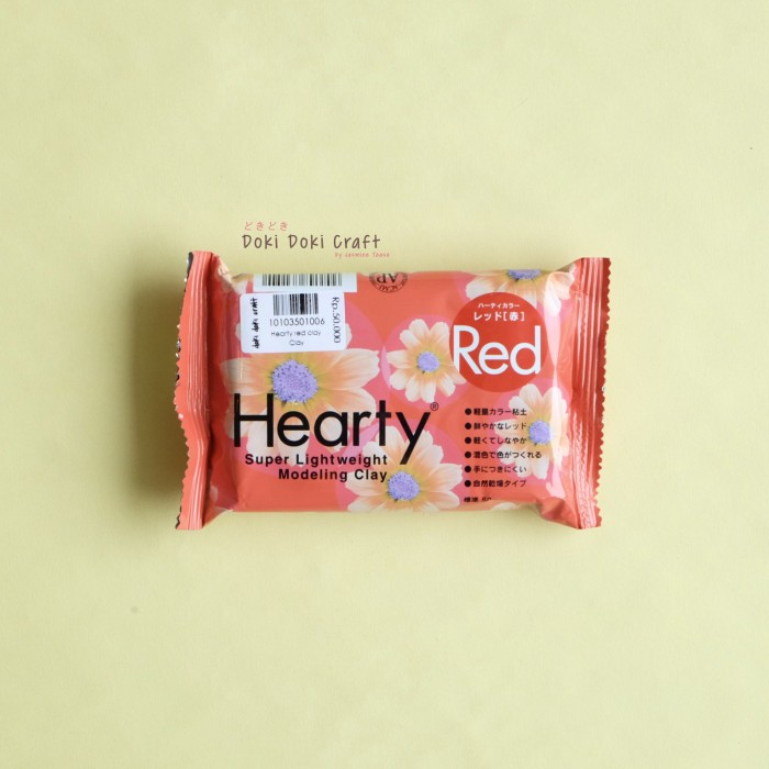 harga Hearty red super lightweight modelling clay air dry clay craft Tokopedia.com