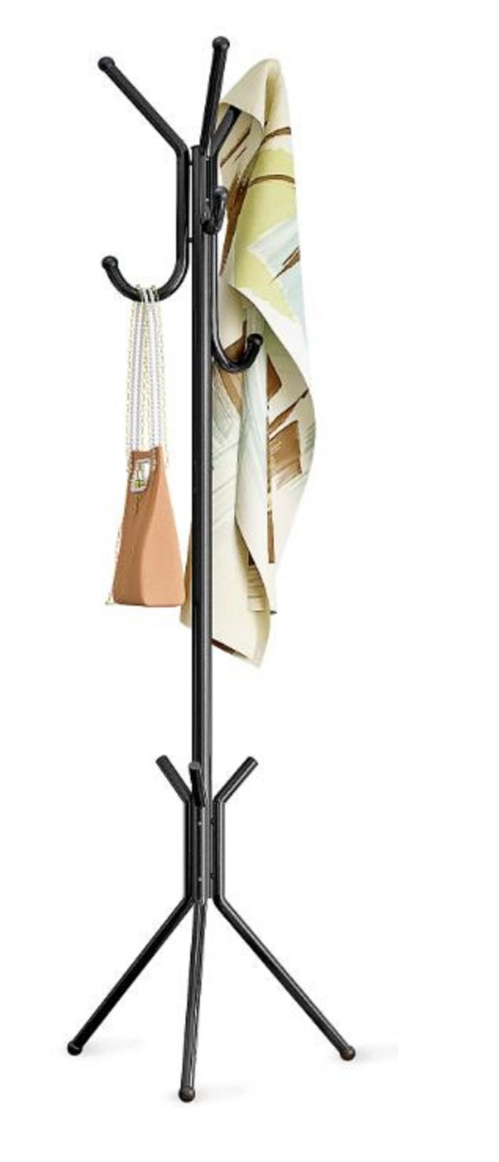 Multifunction Standing Hanger (Portable, modern) Gantungan Baju Topi - Putih