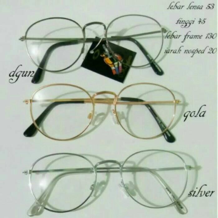 Frame Kacamata Bulat Korea   Kacamata Bulat Korea Pria Wanita   Action 81fee2d4b0