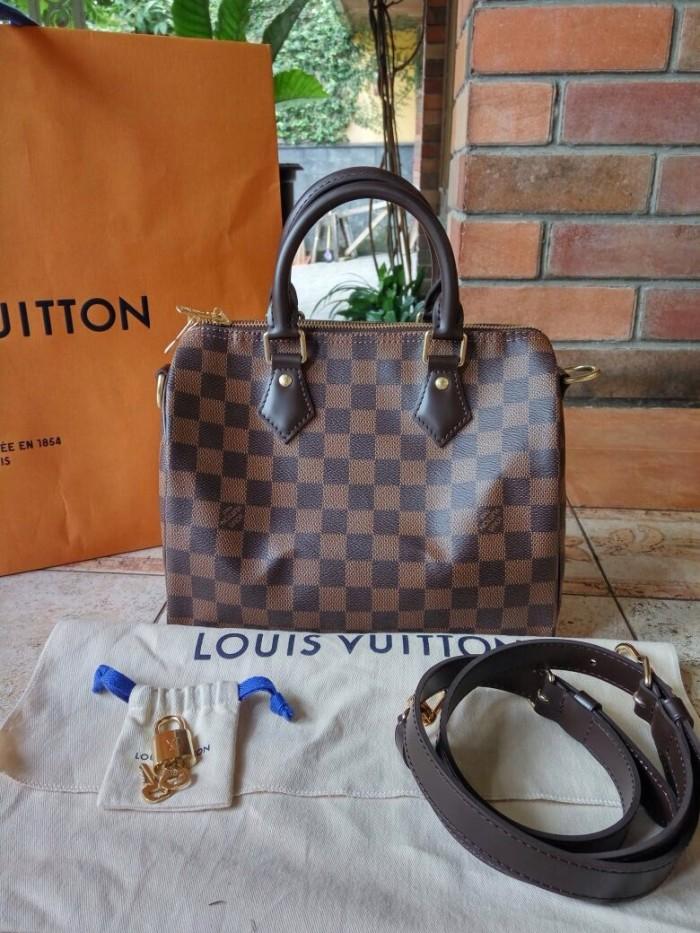 Tas LV Louis Vuitton Speedy Bandouliere 25 Damier Asli   Ori Authentic 18d10a0345