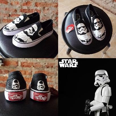 5968ca90c16b73 Jual sepatu kids anak vans slip on storm trooper star wars - BIG ...
