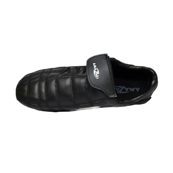 Sepatu Bola Kulit Pul Besi - Amazaki Gigas BW Bola - Hitam, 38