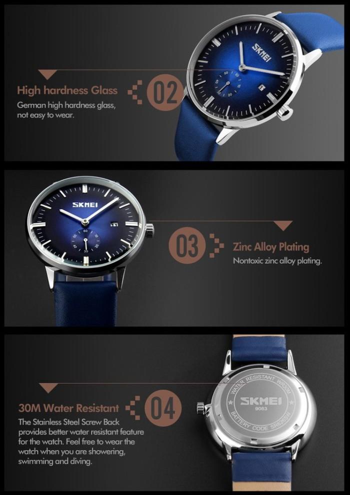 SKMEI Fashion Watch 9083 Original Water Resistant 30M - Blue .