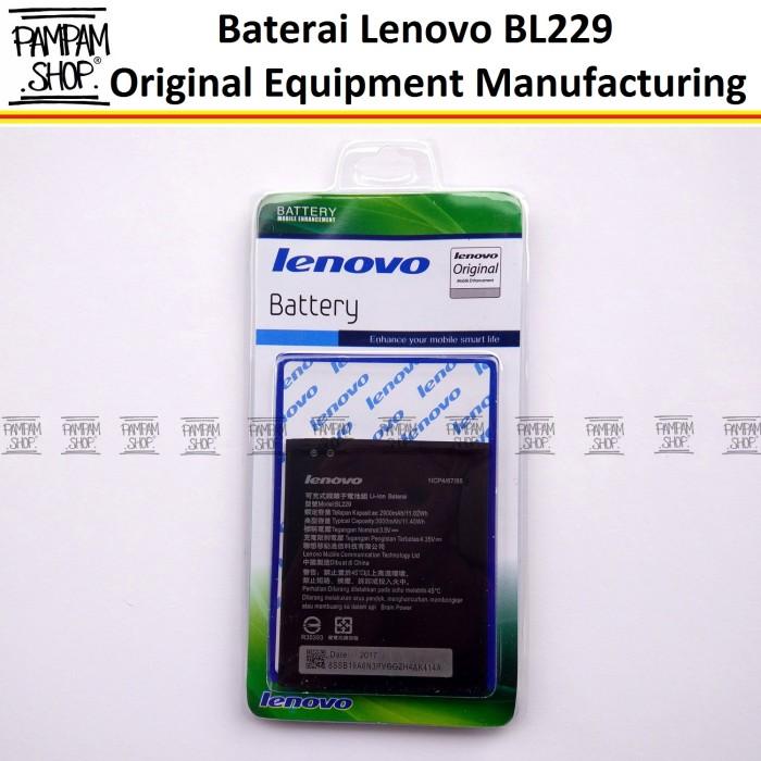 harga Baterai handphone lenovo bl229 a8 a806 a808t original batre batrai