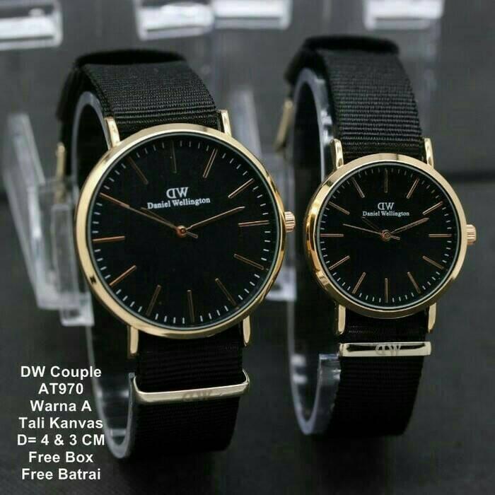 Jual sepasang jam tangan couple pasangan coupel pria wanita hitam dw ... c82870a220
