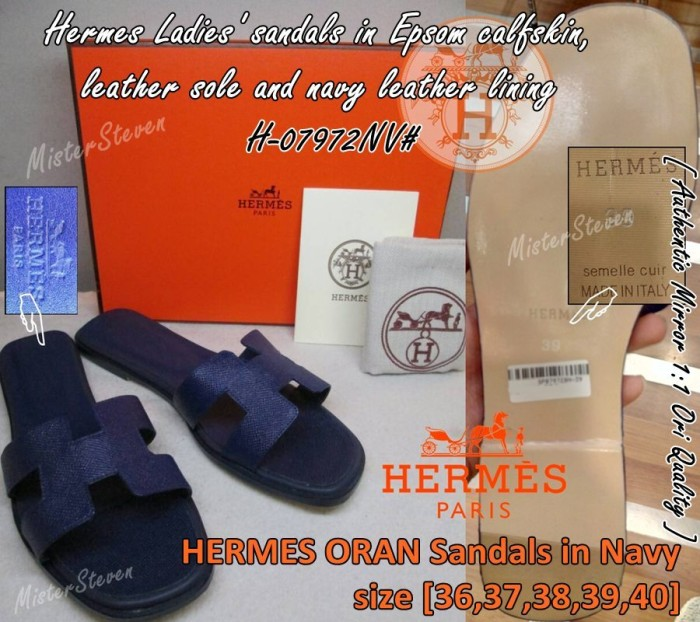 Sandal wanita hermes oran h-07972nv  authentic mirror ori quality ae44aac116