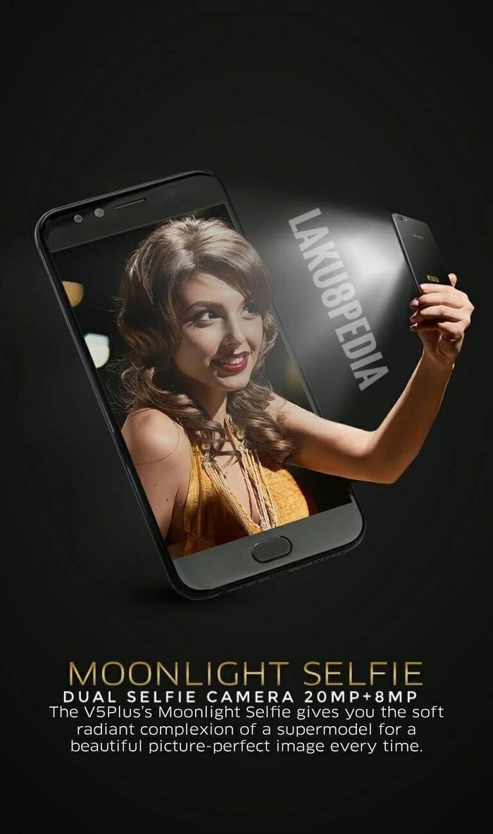 Jual Vivo V5 Plus V5plus Black Original Garansi Resmi Rival Oppo F3 20 Mp 8 Perfect Selfie Ram 4gb 64 Gb