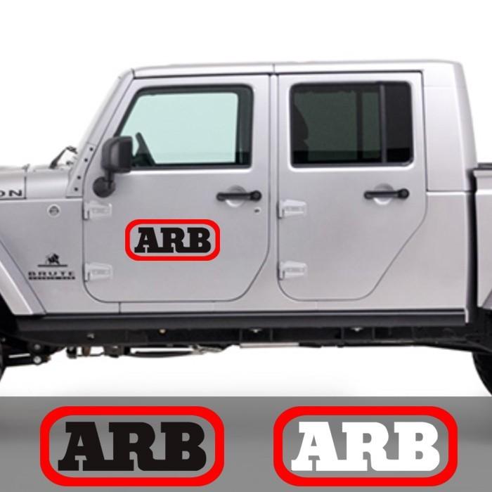 Stiker mobil arb 4x4 4wd jeep 60 cm sticker cutting pintu kaca