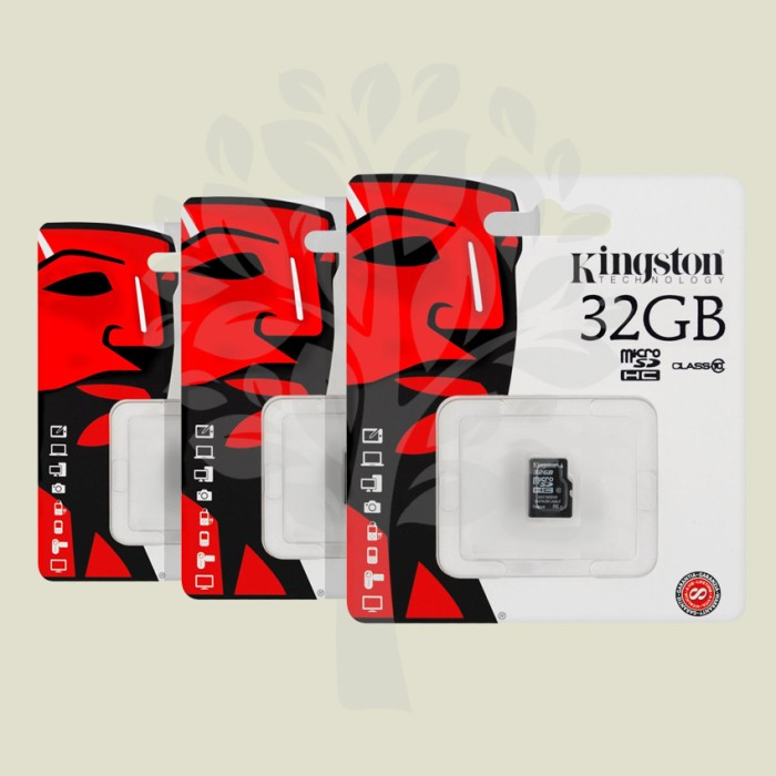 harga Memory card kingston microsd 32gb class 10 genuine Tokopedia.com