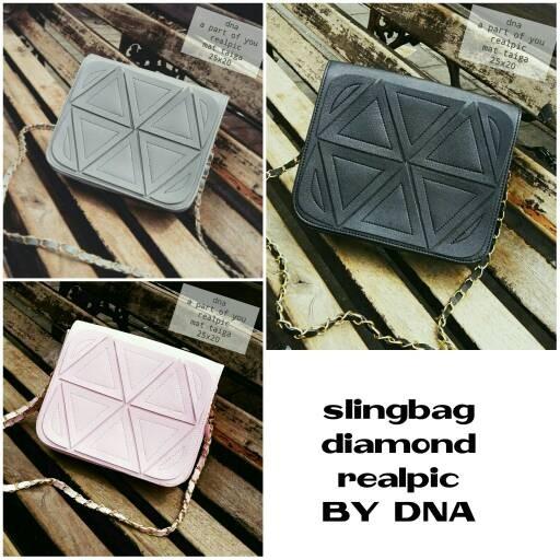 Foto Produk tas fashion wanita murah slingbag diamond grosir tas selempang dari Then4Shop