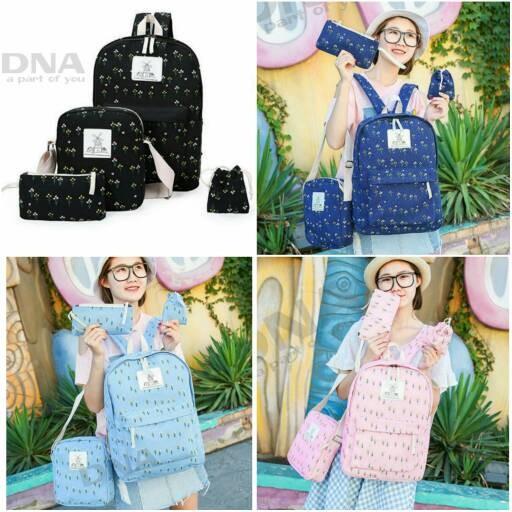 Foto Produk tas sekolah wanita murah backpack pohon 4in1 grosir tas ransel dari Then4Shop