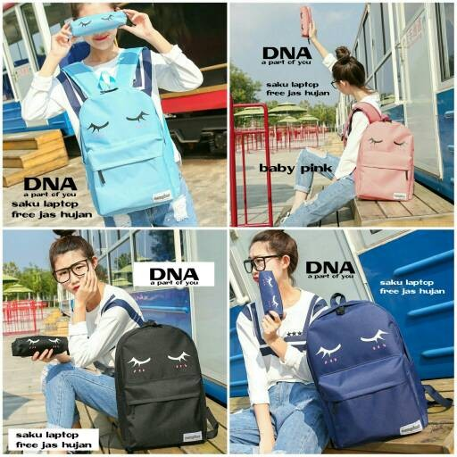 Foto Produk tas sekolah wanita murah backpack merem 2in1 grosir tas ransel dari Then4Shop