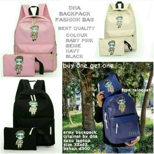 Foto Produk tas sekolah wanita murah backpack army grosir tas ransel dari Then4Shop