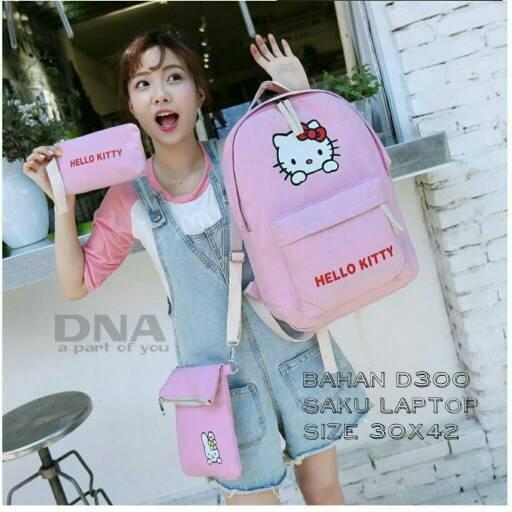 Foto Produk tas sekolah wanita murah backpack hello kitty 3inqgrosir tas ransel dari Then4Shop
