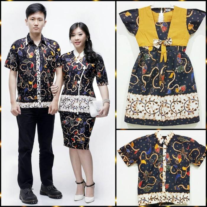 Jual Batik Sarimbit Keluarga Rok N Blus 2 Anak Meyshin Daun Kab Sukoharjo Baju Batik Seragam Tokopedia