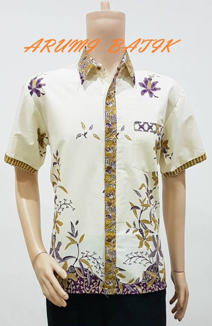 Kemeja / hem / atasan / baju / seragam pria batik 1962 ungu