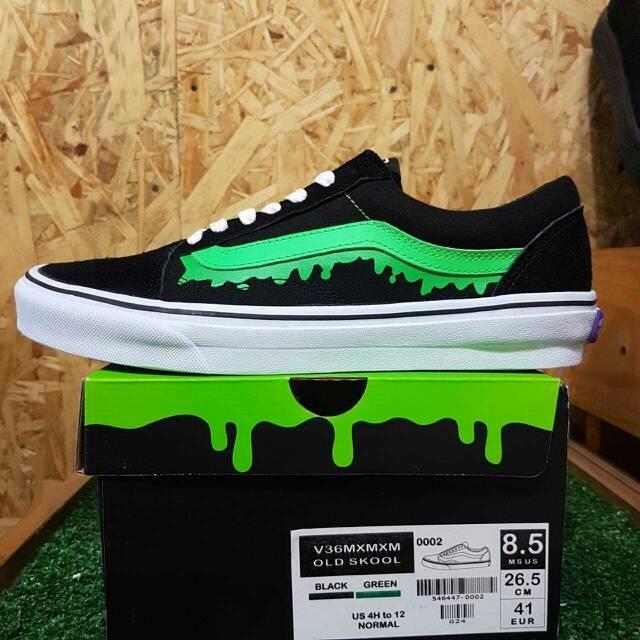 eb5295bc642366 Jual sepatu vans old skool megical mosh misfits black green white ...
