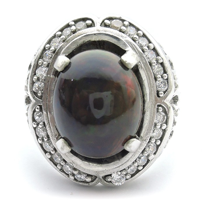 Jual Cincin Perak Batu Opal Cincin Cowok Batu Kalimaya Kab