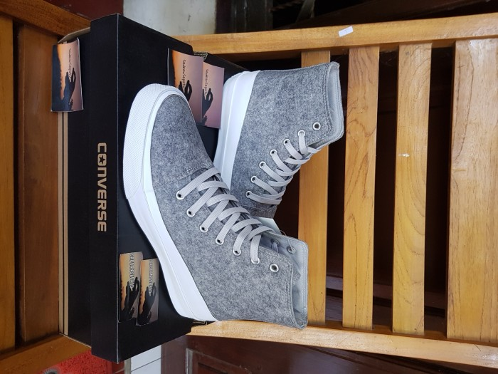 Converse All Star Quantum Hi Ash Grey White Volt Original New