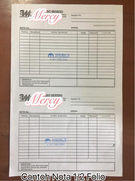 Jual Nota Pesanan Biasa Ukuran 12 Folio 2x50 Mercy Kota Surabaya Mercy Stationary Tokopedia
