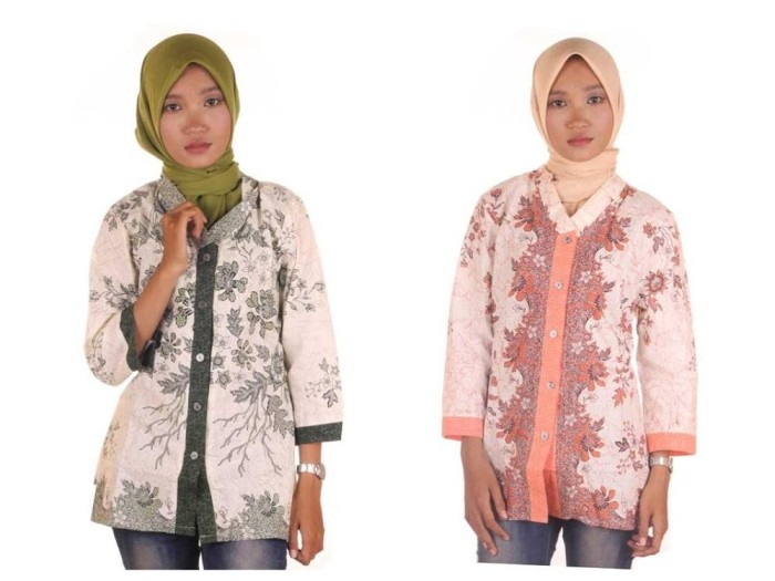 harga Blouse batik i blouse kerja wanita batik i blus batik wanita melati Tokopedia.com
