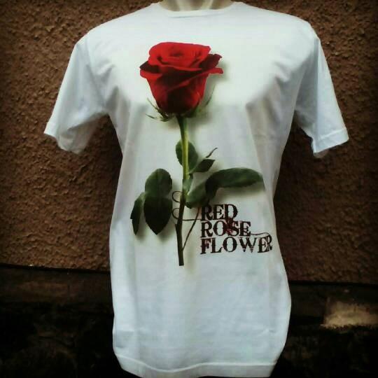 Jual Contoh Real Kaos Dtg Motif Bunga Mawar Hasil Sablon Kami