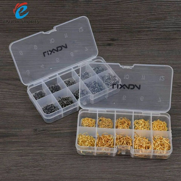 harga Mata kail lixada 600pcs fishing hooks with box, hook size 3# to 12# Tokopedia.com
