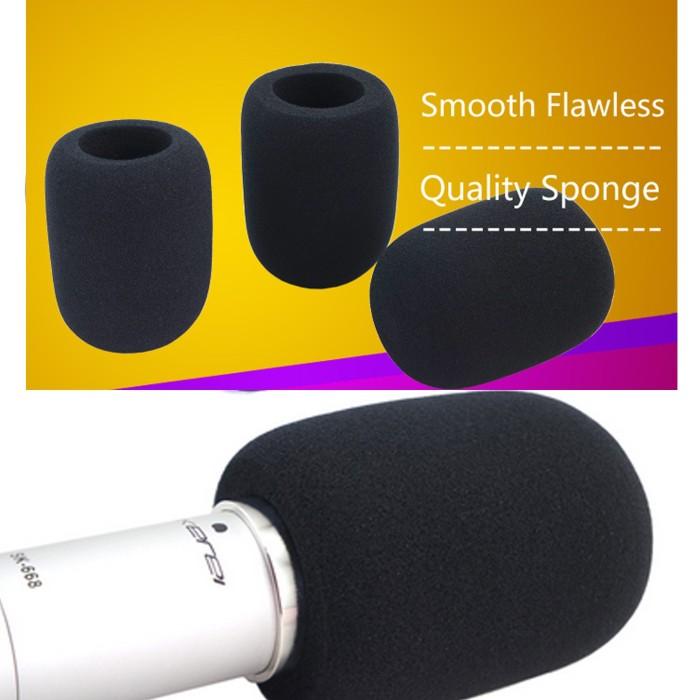 harga Ukuran besar - noise filter busa angin spons tutup kepala mic mikrofon Tokopedia.com