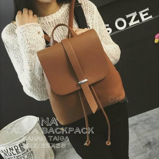 Foto Produk tas fashion wanita murah backpack talita grosir tas ransel dari Then4Shop