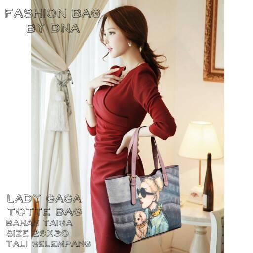 Foto Produk tas fashion wanita murah tote bag lady gaga grosir tas dari Then4Shop