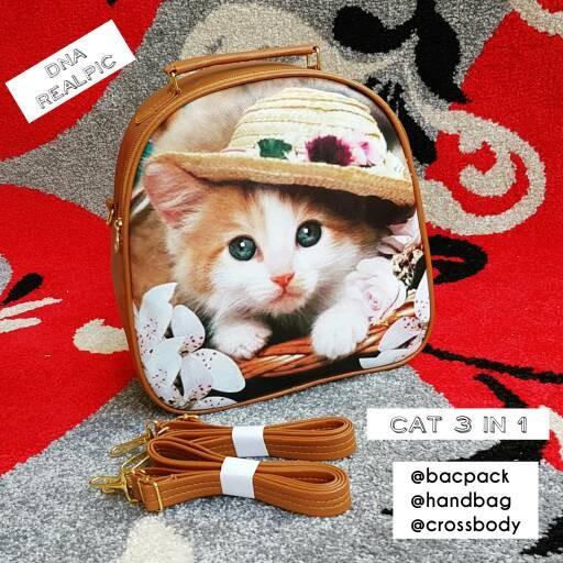Foto Produk tas fashion wanita murah backpack 3in1 style cat grosir tas dari Then4Shop