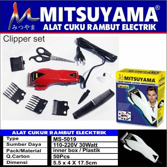 Alat cukur rambut mitsuyama ms 5019 harga Alat cukur rambut mitsuyama ms  5019 Tokopedia.com 970c0b6597