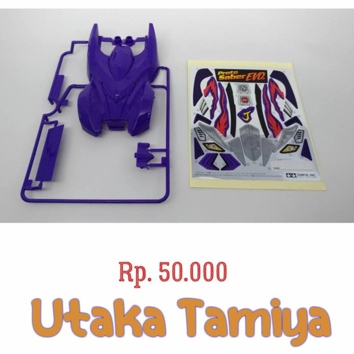 harga Tamiya part body / kap proto saber evolution original tamiya Tokopedia.com