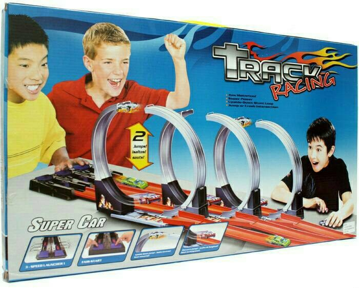 harga Mainan anak track racing 3 jalur bisa untuk mobil hot wheels Tokopedia.com