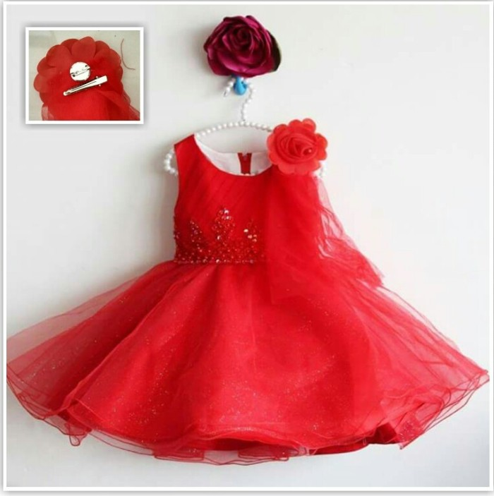 harga Gf blink rose dress red (dress anak import) Tokopedia.com