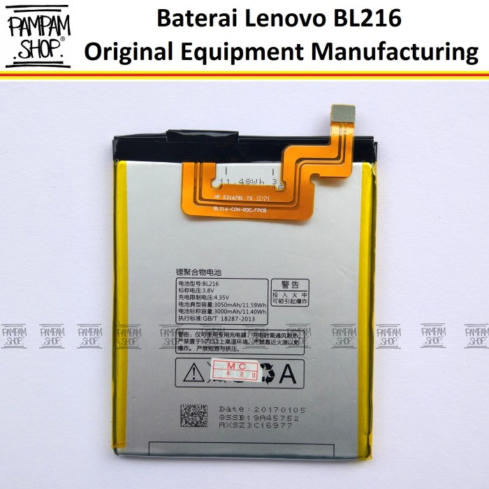 harga Baterai handphone lenovo bl216 k910 vibe z original batre bl 216 k 910 Tokopedia.com
