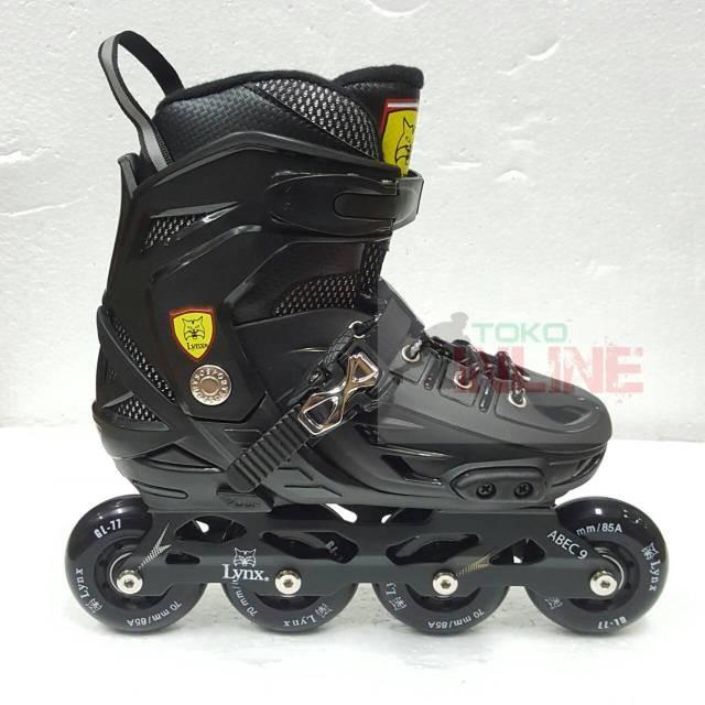 harga Sepatu roda lynx bm138 recreational inline skate - full black Tokopedia.com