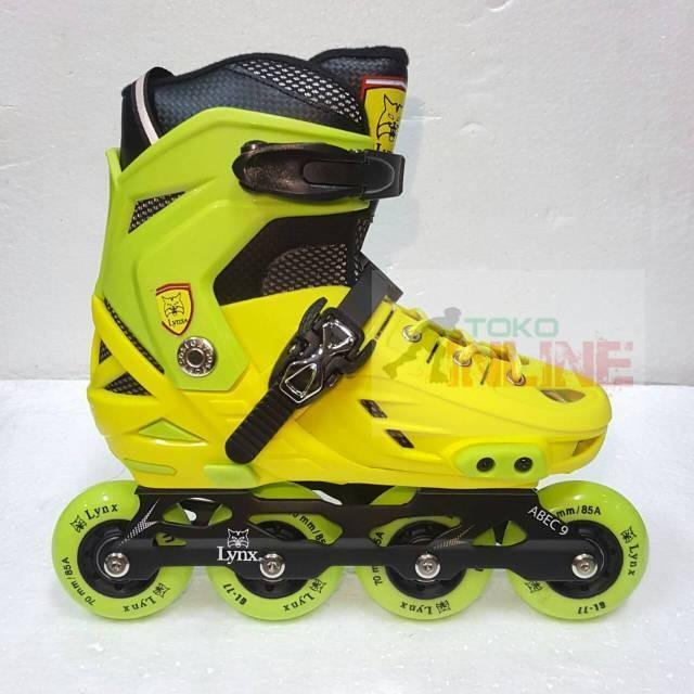 Jual Sepatu Roda LYNX BM138 Recreational Inline Skate - Yellow Green ... 10c2f4466b