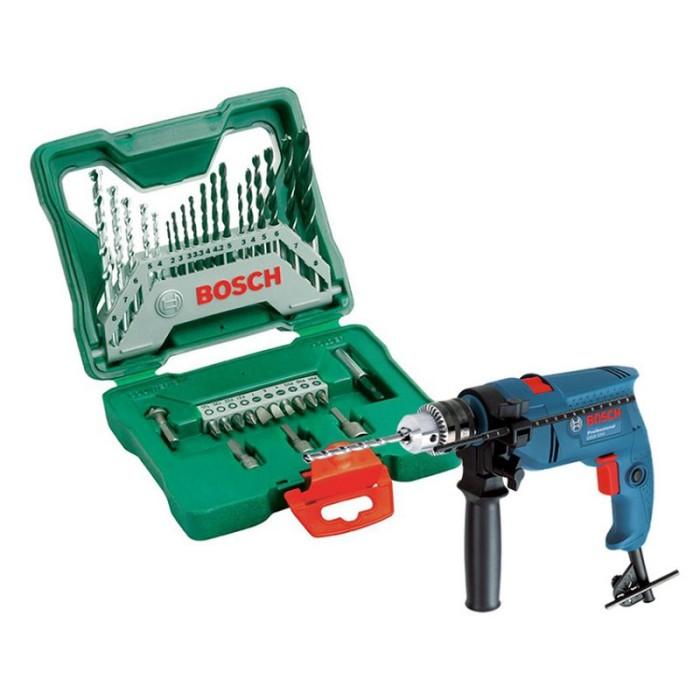 harga Bosch gsb550 impact drill 13 mm + x-line 33 pcs drill set Tokopedia.com