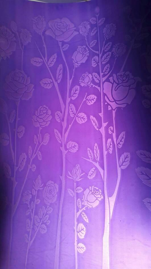 harga Fiber pagar ungu fiber plastik penutup pintu pagar motif bunga garden Tokopedia.com